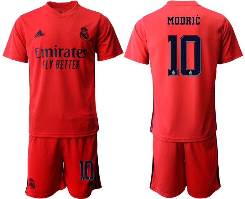 Wholesale Men 2020-2021 club Real Madrid away 10 red Soccer Jerseys