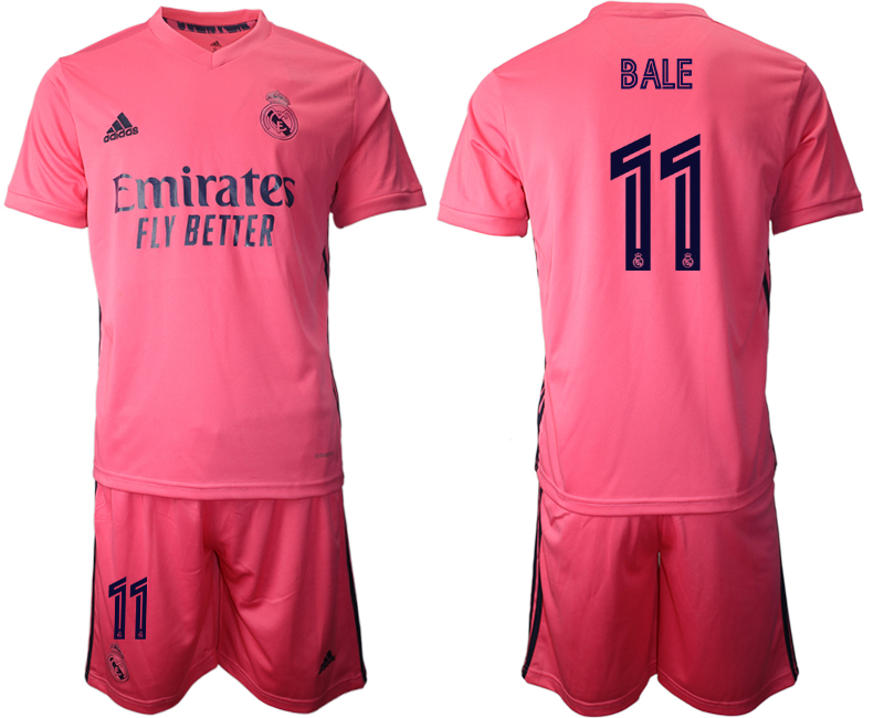 Wholesale Men 2020-2021 club Real Madrid away 11 pink Soccer Jerseys