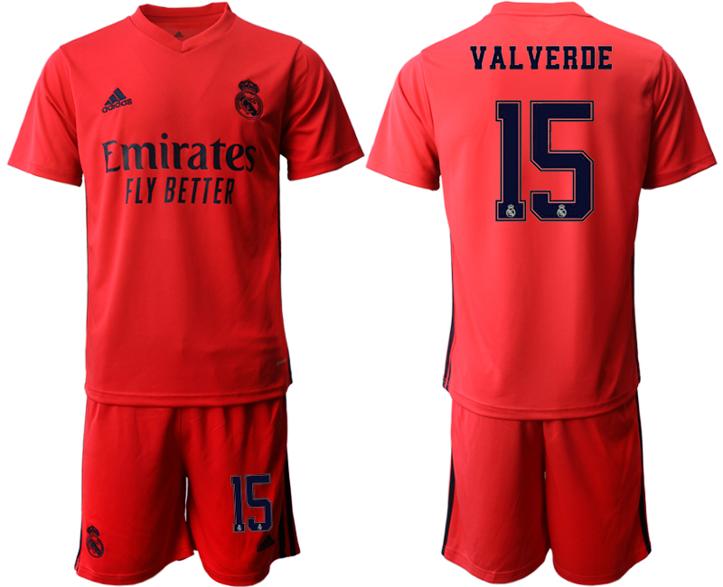 Cheap Men 2020-2021 club Real Madrid away 15 red Soccer Jerseys