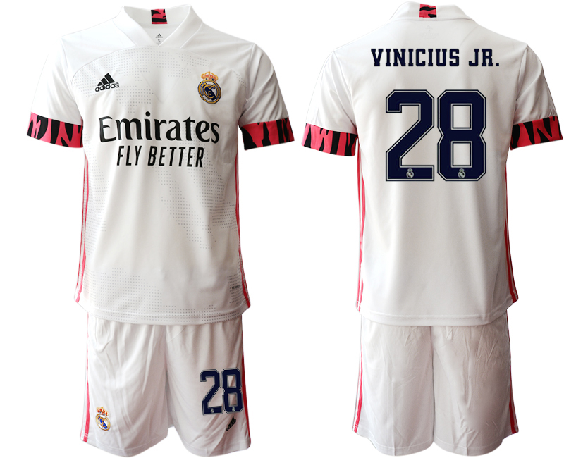 Wholesale Men 2020-2021 club Real Madrid home 28 white Soccer Jerseys1