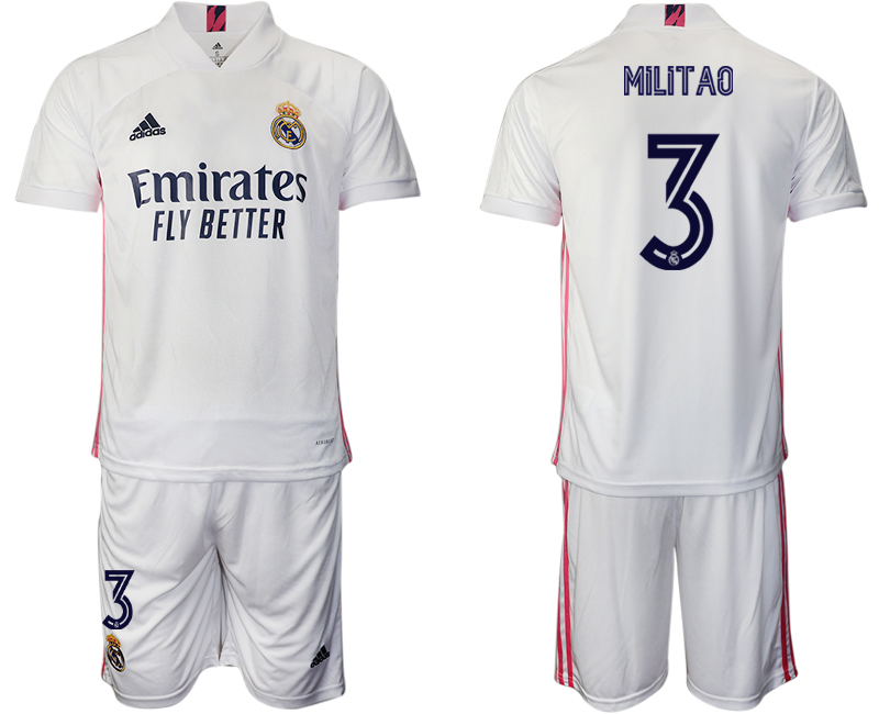 Wholesale Men 2020-2021 club Real Madrid home 3 white Soccer Jerseys