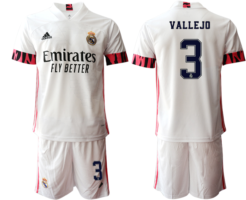 Wholesale Men 2020-2021 club Real Madrid home 3 white Soccer Jerseys1