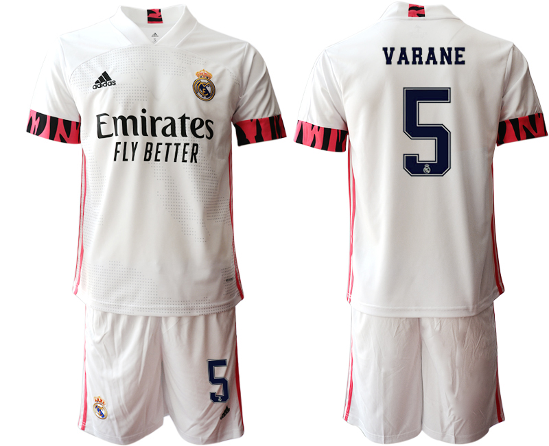 Wholesale Men 2020-2021 club Real Madrid home 5 white Soccer Jerseys2