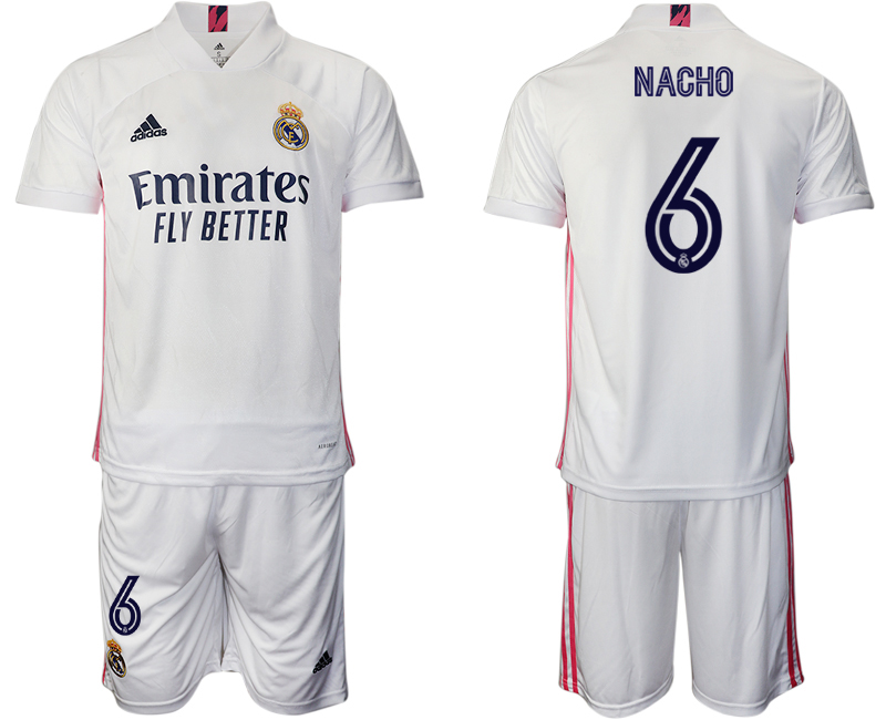 Cheap Men 2020-2021 club Real Madrid home 6 white Soccer Jerseys