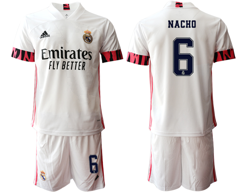 Cheap Men 2020-2021 club Real Madrid home 6 white Soccer Jerseys1