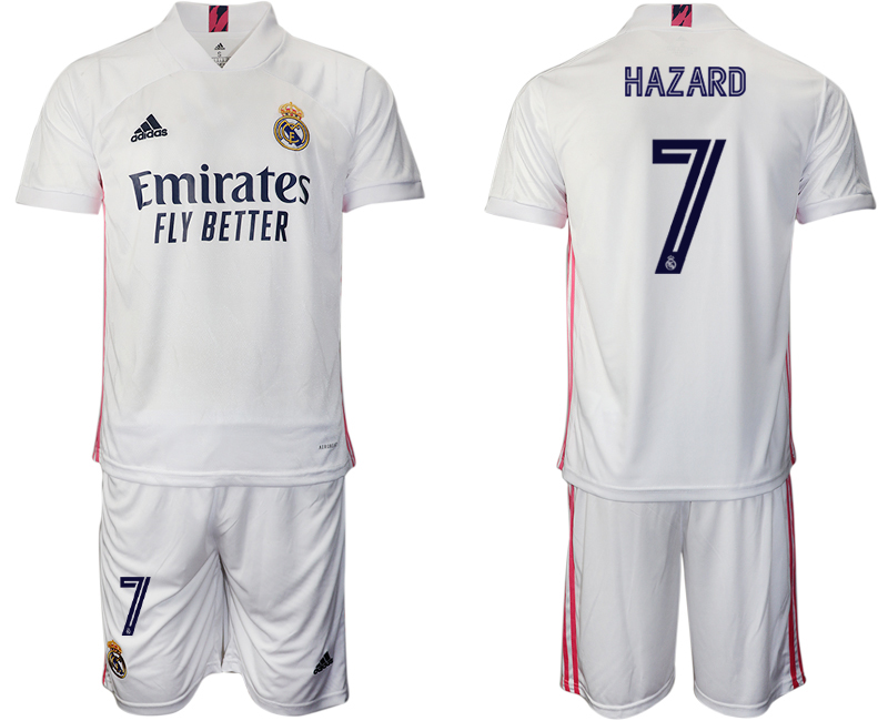 Cheap Men 2020-2021 club Real Madrid home 7 white Soccer Jerseys