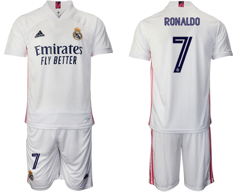 Cheap Men 2020-2021 club Real Madrid home 7 white Soccer Jerseys1