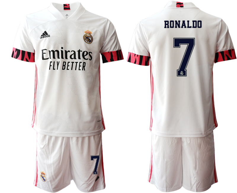 Cheap Men 2020-2021 club Real Madrid home 7 white Soccer Jerseys3