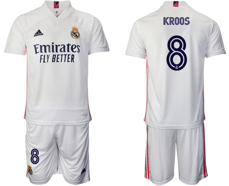 Cheap Men 2020-2021 club Real Madrid home 8 white Soccer Jerseys