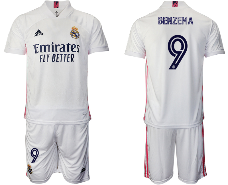 Cheap Men 2020-2021 club Real Madrid home 9 white Soccer Jerseys