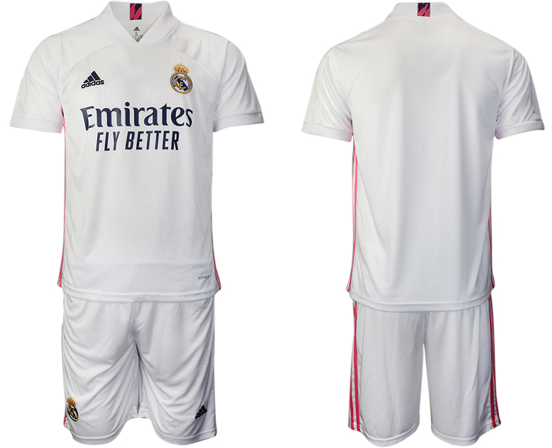 Cheap Men 2020-2021 club Real Madrid home blank white Soccer Jerseys