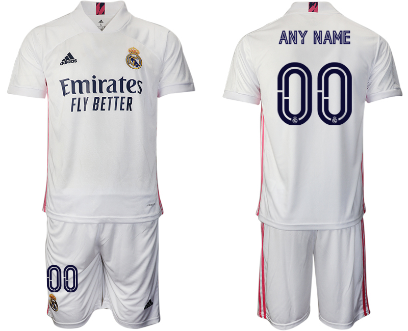 Cheap Men 2020-2021 club Real Madrid home customized white Soccer Jerseys