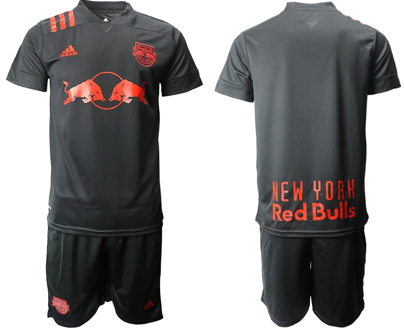 Cheap Men 2020-2021 club Red Bulls away black Soccer Jerseys