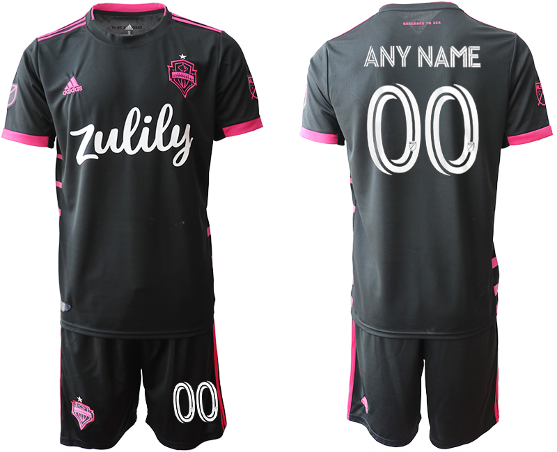 Cheap Men 2020-2021 club Seattle Sounders away customized black Soccer Jerseys
