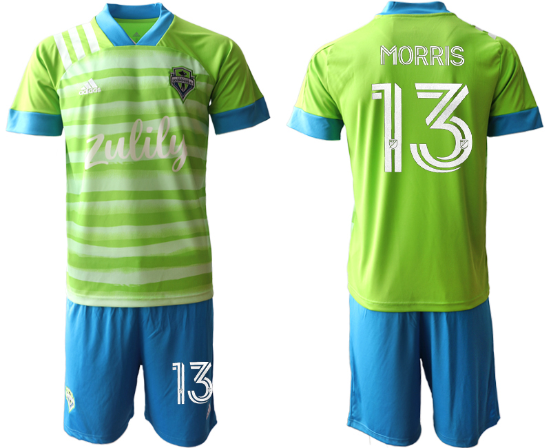 Cheap Men 2020-2021 club Seattle Sounders home 13 green Soccer Jerseys
