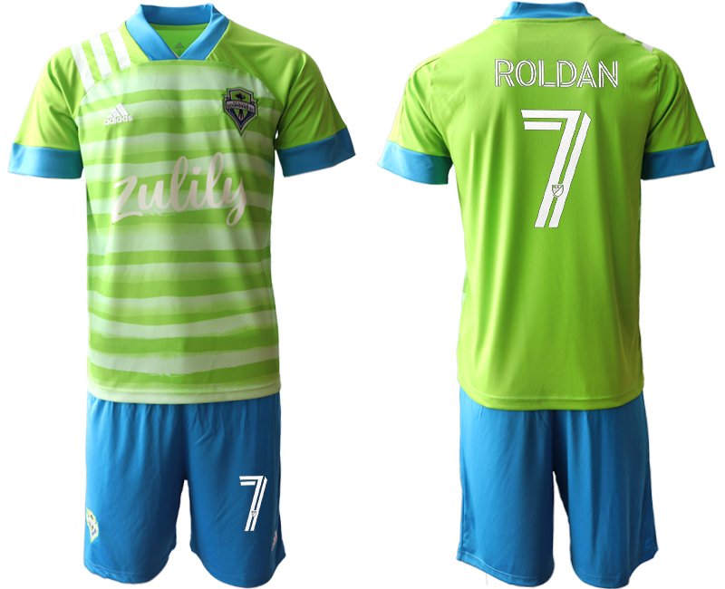 Cheap Men 2020-2021 club Seattle Sounders home 7 green Soccer Jerseys