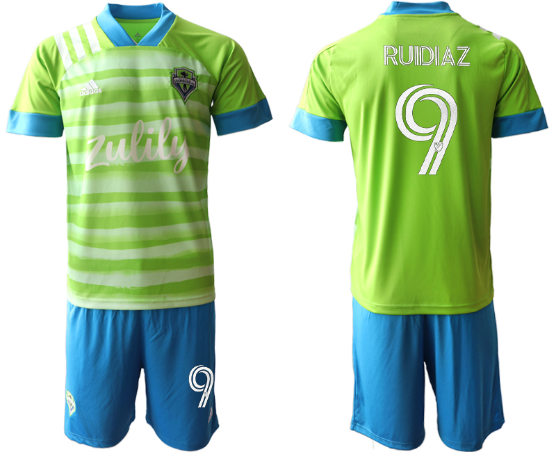 Cheap Men 2020-2021 club Seattle Sounders home 9 green Soccer Jerseys