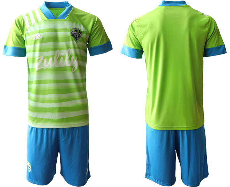 Cheap Men 2020-2021 club Seattle Sounders home blank green Soccer Jerseys