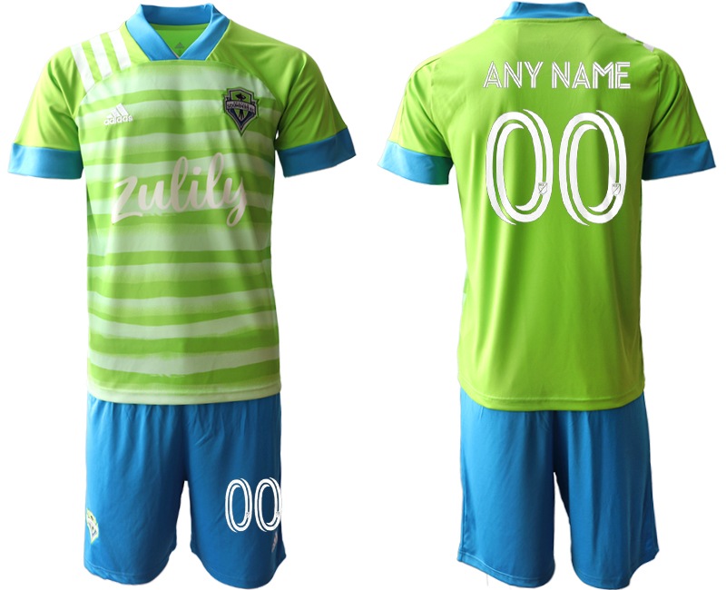 Cheap Men 2020-2021 club Seattle Sounders home customized green Soccer Jerseys