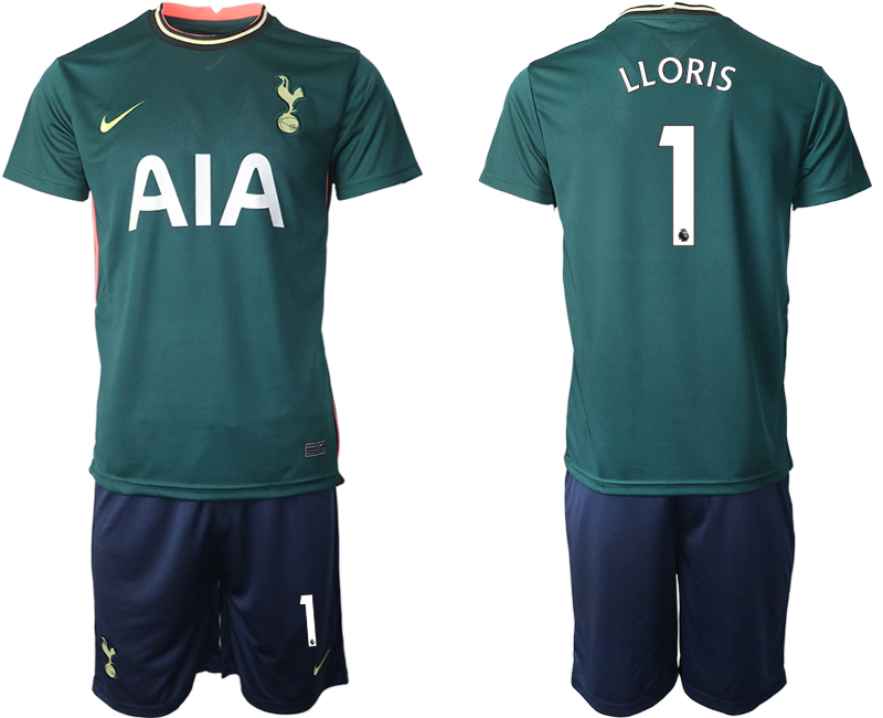 Wholesale Men 2020-2021 club Tottenham away 1 green Soccer Jerseys