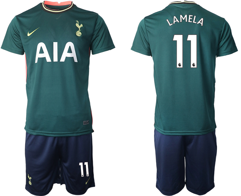 Wholesale Men 2020-2021 club Tottenham away 11 green Soccer Jerseys