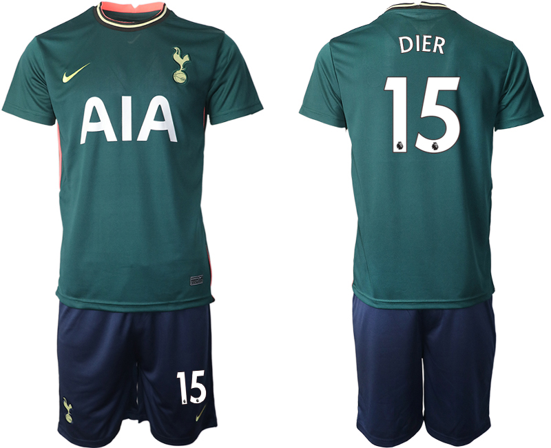 Wholesale Men 2020-2021 club Tottenham away 15 green Soccer Jerseys