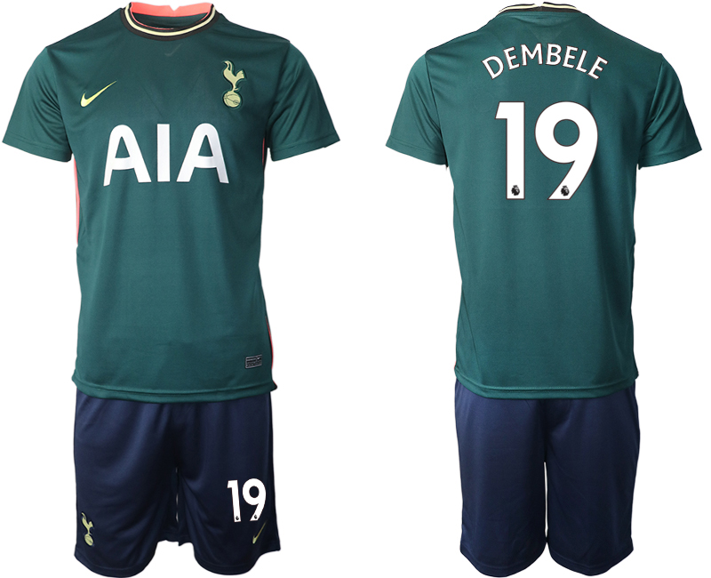 Wholesale Men 2020-2021 club Tottenham away 19 green Soccer Jerseys