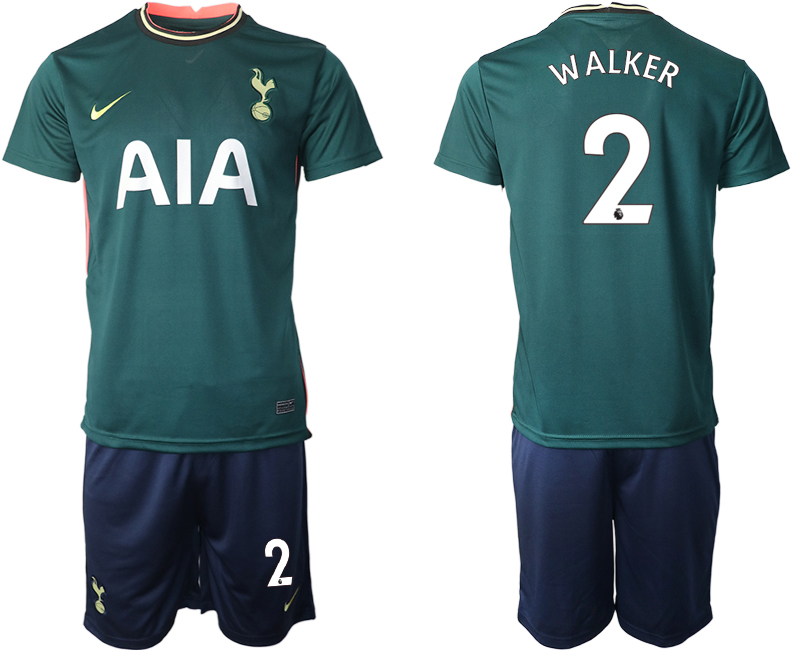 Wholesale Men 2020-2021 club Tottenham away 2 green Soccer Jerseys