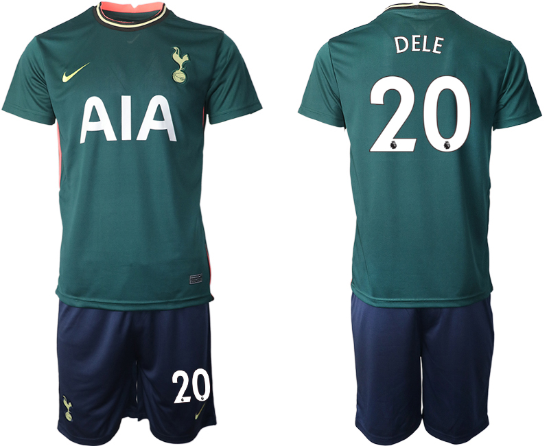 Wholesale Men 2020-2021 club Tottenham away 20 green Soccer Jerseys