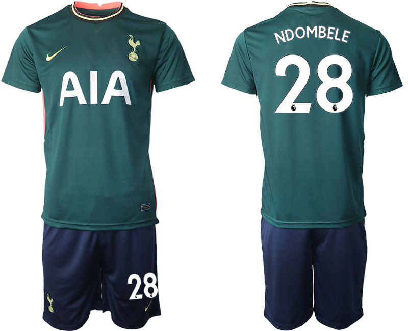 Wholesale Men 2020-2021 club Tottenham away 28 green Soccer Jerseys