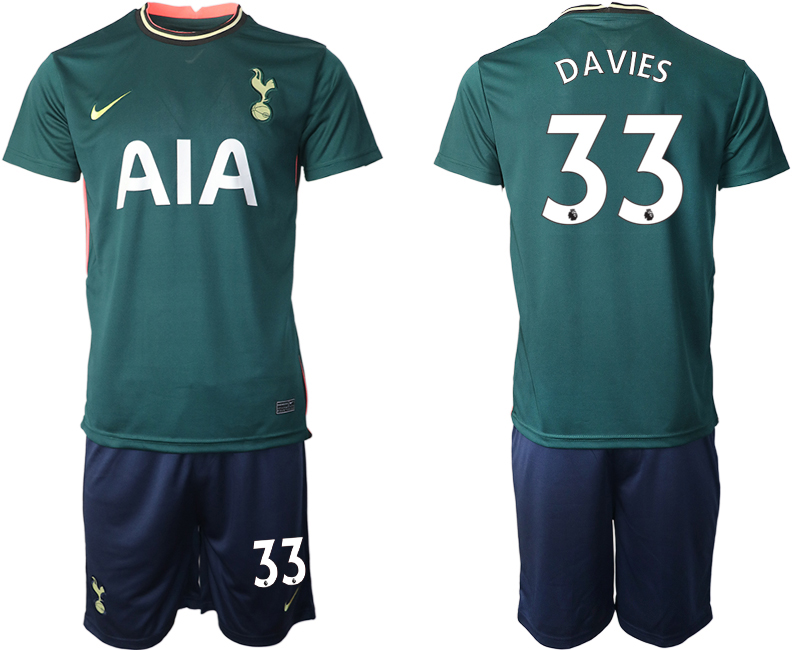 Wholesale Men 2020-2021 club Tottenham away 33 green Soccer Jerseys