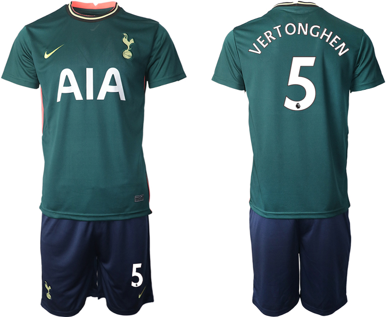 Wholesale Men 2020-2021 club Tottenham away 5 green Soccer Jerseys