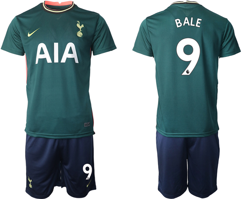 Wholesale Men 2020-2021 club Tottenham away 9 green Soccer Jerseys