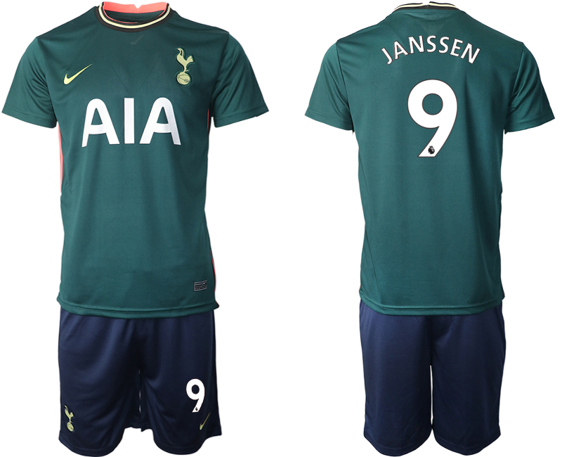 Wholesale Men 2020-2021 club Tottenham away 9 green Soccer Jerseys1