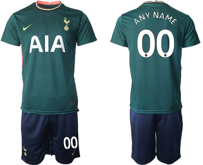 Wholesale Men 2020-2021 club Tottenham away customized green Soccer Jerseys