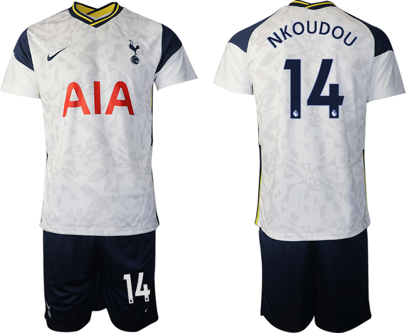 Wholesale Men 2020-2021 club Tottenham home 14 white Soccer Jerseys