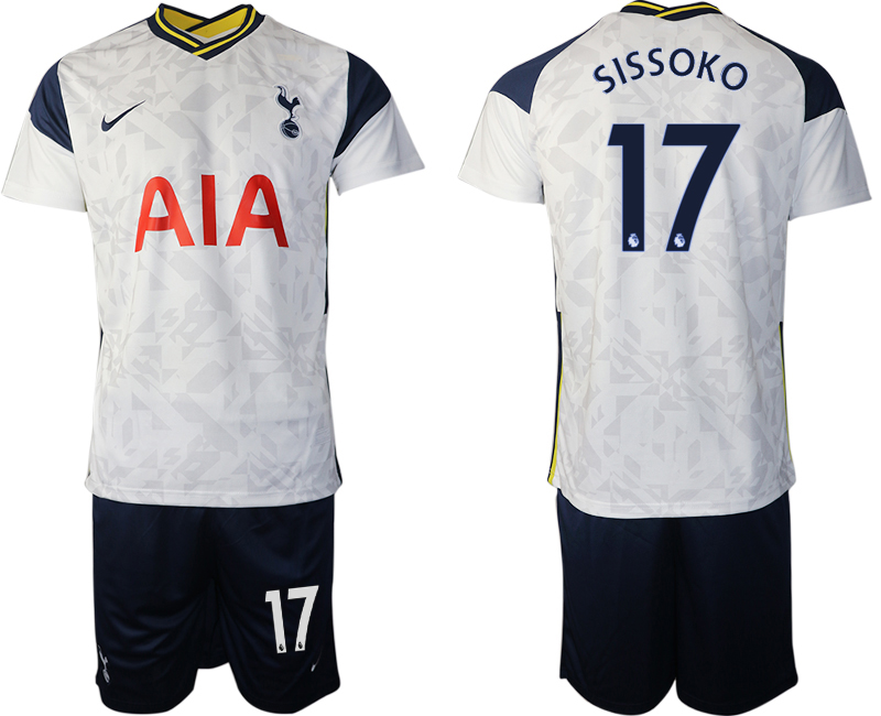 Wholesale Men 2020-2021 club Tottenham home 17 white Soccer Jerseys