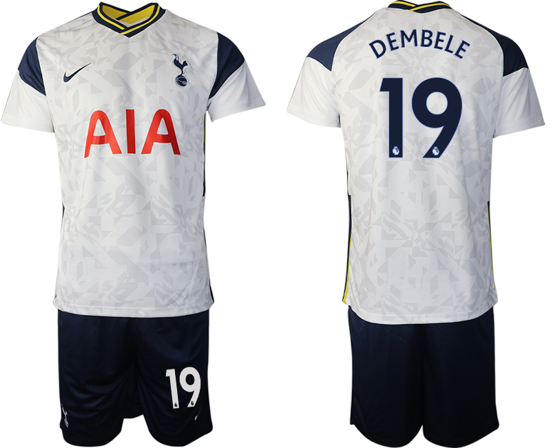 Wholesale Men 2020-2021 club Tottenham home 19 white Soccer Jerseys