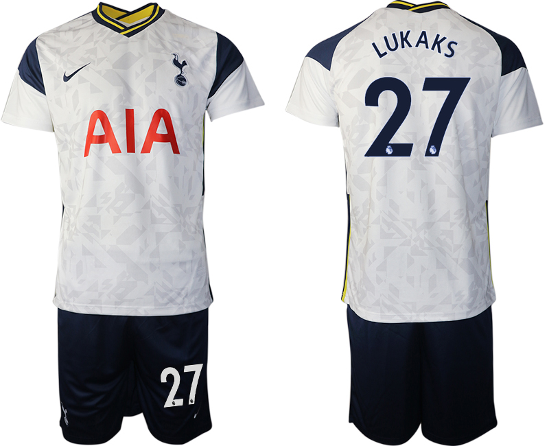 Wholesale Men 2020-2021 club Tottenham home 27 white Soccer Jerseys