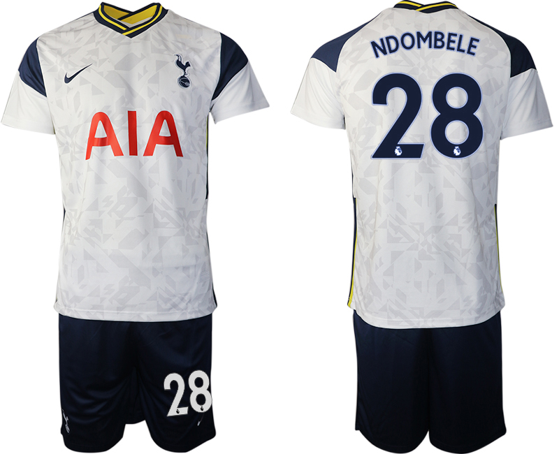 Wholesale Men 2020-2021 club Tottenham home 28 white Soccer Jerseys
