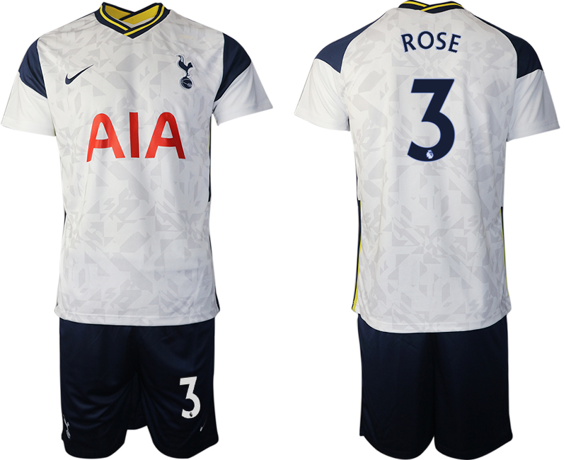 Wholesale Men 2020-2021 club Tottenham home 3 white Soccer Jerseys