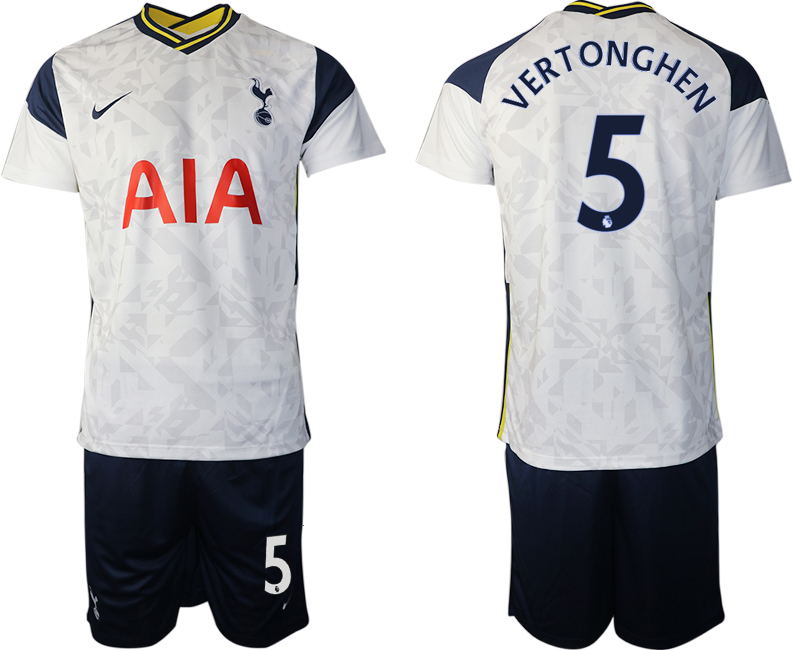 Wholesale Men 2020-2021 club Tottenham home 5 white Soccer Jerseys