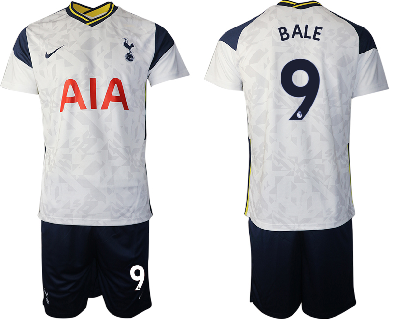 Wholesale Men 2020-2021 club Tottenham home 9 white Soccer Jerseys