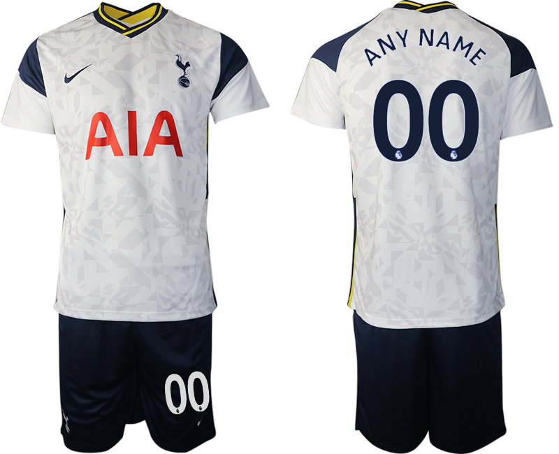 Wholesale Men 2020-2021 club Tottenham home customized white Soccer Jerseys