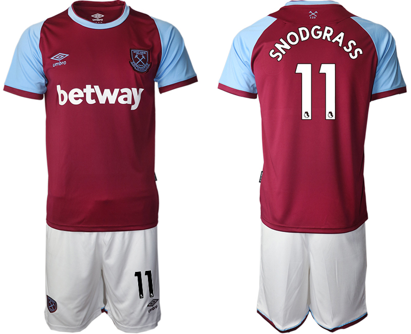 Wholesale Men 2020-2021 club West Ham United home 11 red Soccer Jerseys
