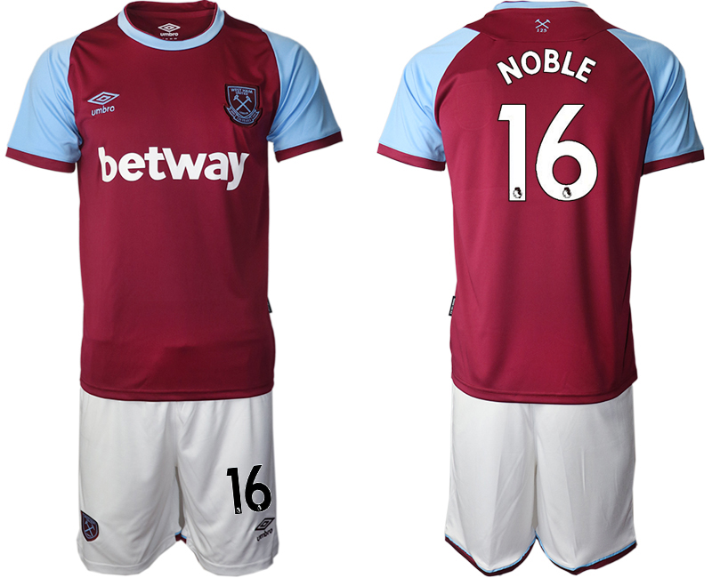 Cheap Men 2020-2021 club West Ham United home 16 red Soccer Jerseys