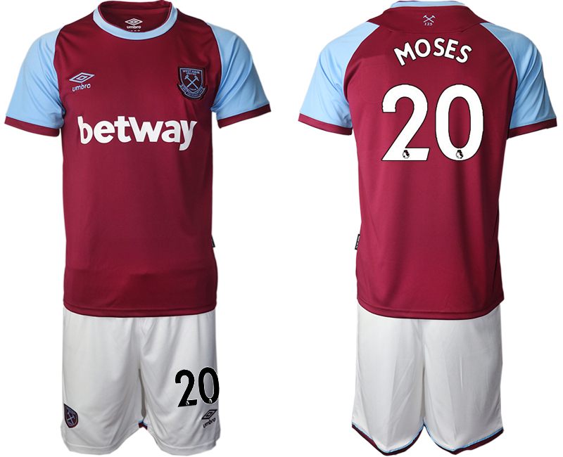 Wholesale Men 2020-2021 club West Ham United home 20 red Soccer Jerseys