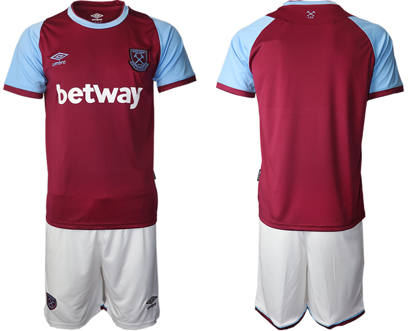 Wholesale Men 2020-2021 club West Ham United home blank red Soccer Jerseys