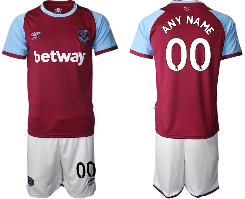 Wholesale Men 2020-2021 club West Ham United home customized red Soccer Jerseys