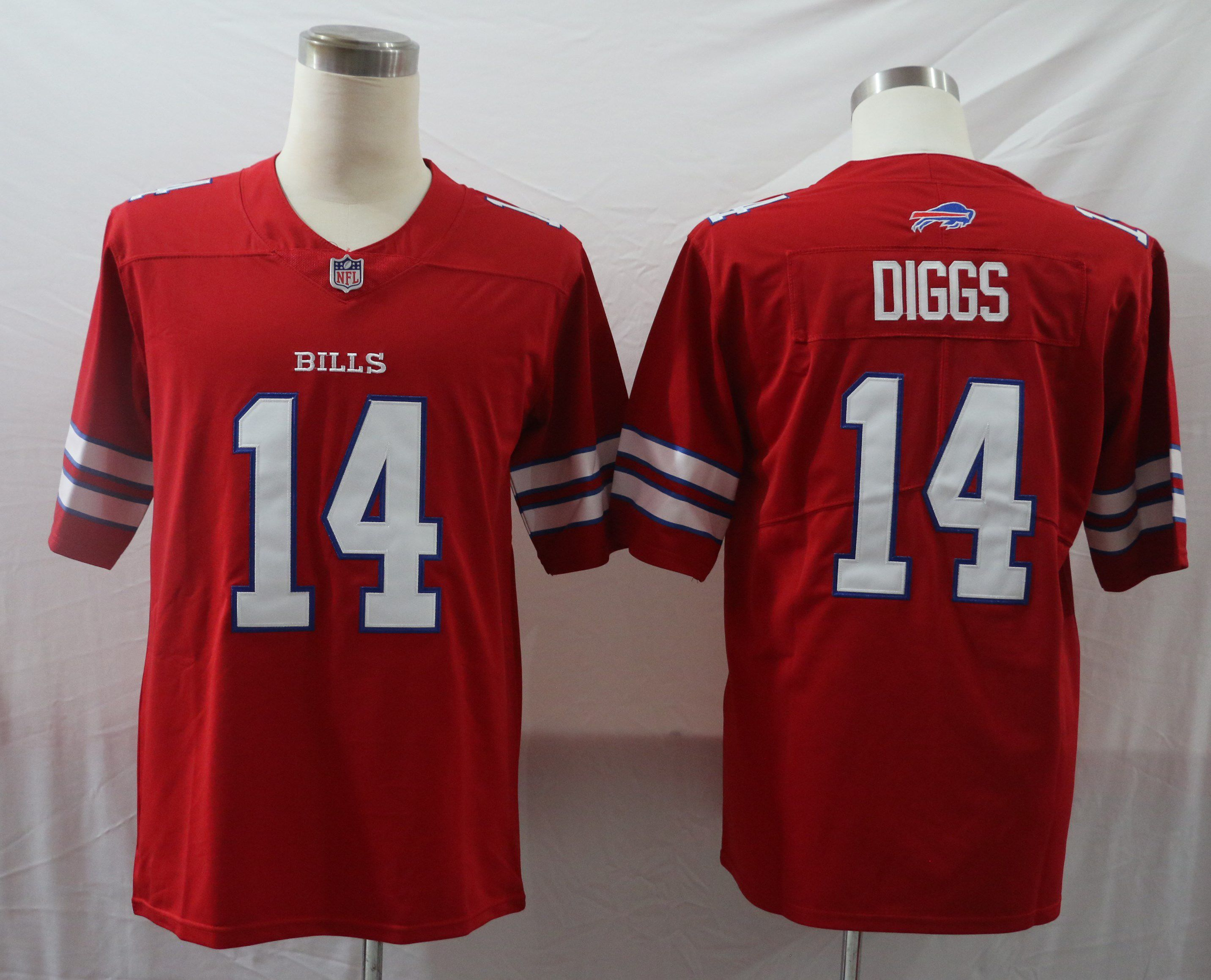 Cheap Men Buffalo Bills 14 Diggs Red Vapor Untouchable Limited 2020 Player NFL Jersey